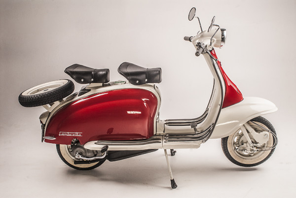 Lambretta side white LR