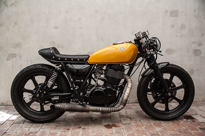 brad s yamaha sr500 caf racer altmotocult. Black Bedroom Furniture Sets. Home Design Ideas